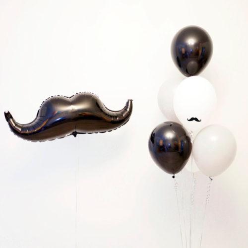 Комплект шаров Подарочный Джентельмен с Усами