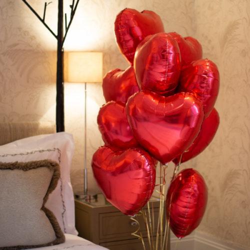 Фонтан из 10 Красных сердец для украшения Комнаты