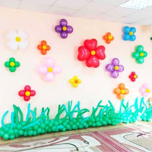 Комплект для оформления Детского сада Стена в Цветочках