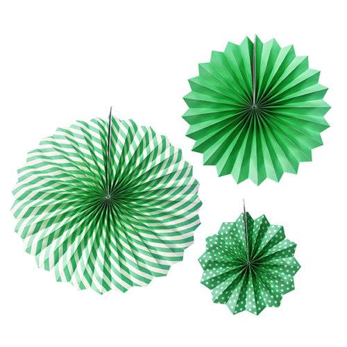 Набор бумажных фантов 20 - 30 - 40 см Зеленый 3 штуки