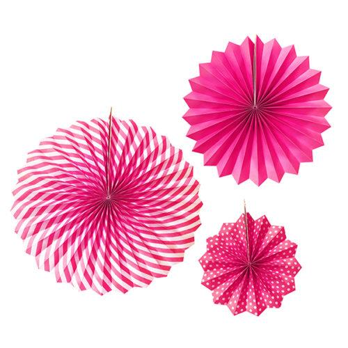 Набор бумажных фантов 20 - 30 - 40 см Розовый 3 штуки