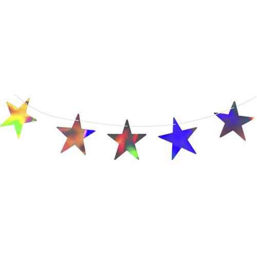 Праздничная гирлянда Звезды голография 200 см