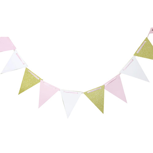 Праздничная гирлянда white pink gold 300 см
