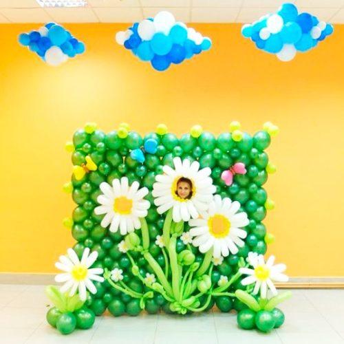 Рамка для фотосессии Цветочки и облачка