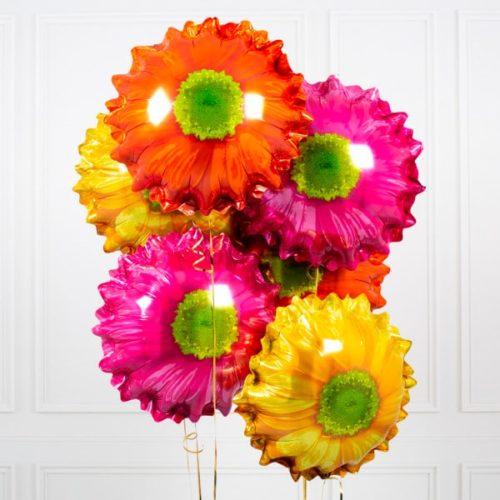 Связка из 7 шаров Цветок