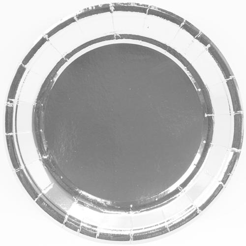 Тарелки 23 см Серебро 6 штук