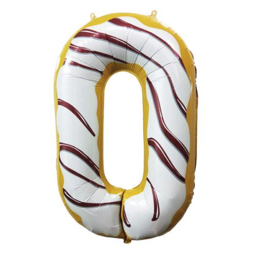 Шар 102 см Цифра 0 Пончик