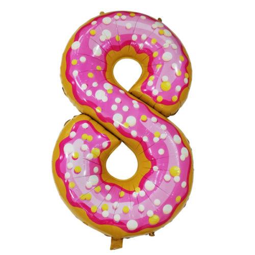 Шар 102 см Цифра 8 Пончик