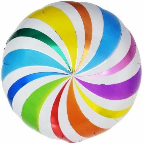 Шар 46 см Круг Разноцветный леденец