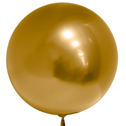 Шар 46 см 3D Deco Bubble Золото Хром