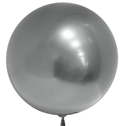 Шар 46 см 3D Deco Bubble Серебро Хром