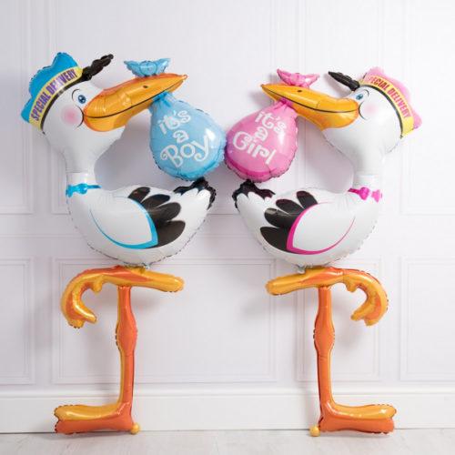 Комплект шаров Два аиста Мальчик или Девочка