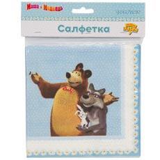 Салфетка 33 см Маша и Медведь Ромашки 12 штук