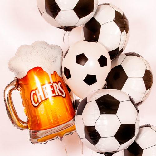 Связка из воздушных шаров Футбол и Пиво