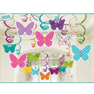 Спираль 46 - 60 см Бабочки Весенние 30 штук