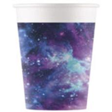 Стакан пластиковый 200 мл Галактика 8 штук
