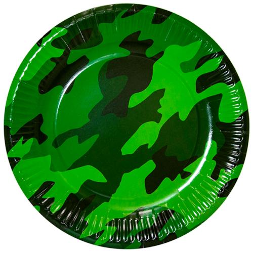 Тарелка 23 см Камуфляж Военный 6 штук
