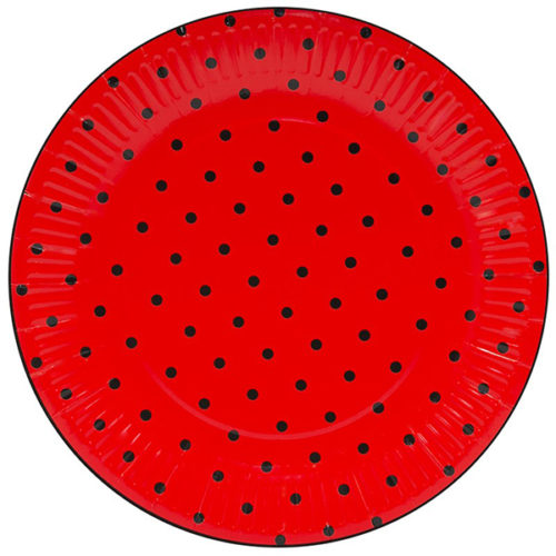Тарелки 23 см Божья коровка Красный 6 штук