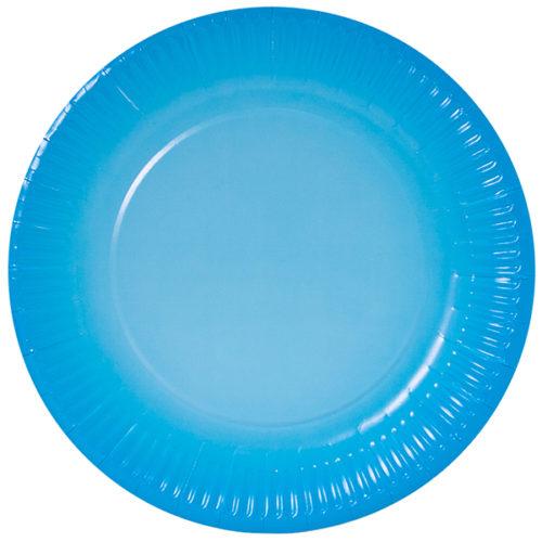 Тарелки 23 см Голубой Градиент 6 штук