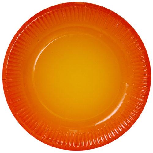 Тарелки 23 см Оранжевый Градиент 6 штук