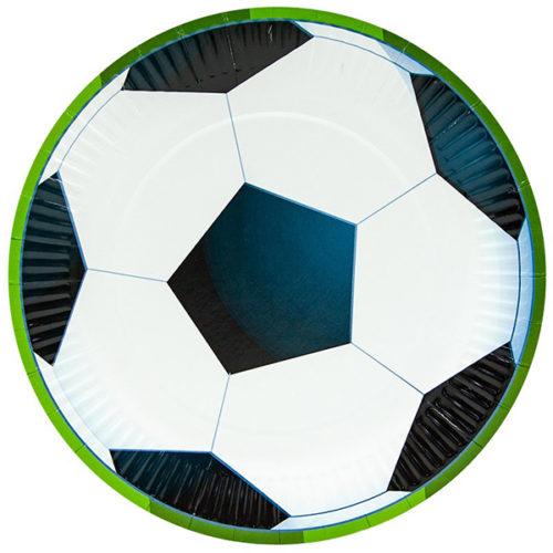 Тарелки 23 см Футбольный мяч 6 штук