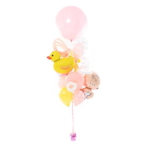 Фонтан из шаров на Рождение Малышки Средний
