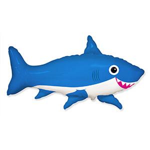 Шар 105 см Фигура Акула веселая