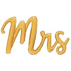 Шар 111 см Фигура MRS золотая