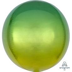 Шар 41 см 3D СФЕРА Омбре Желто-зеленый