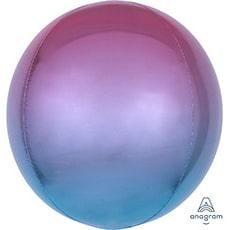 Шар 41 см 3D СФЕРА Омбре Фиолетово-голубой