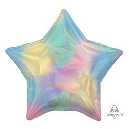 Шар 46 см Звезда Переливы Пастель
