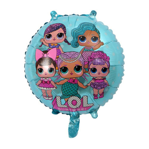 Шар 46 см Круг Куклы Лол LOL Голубой