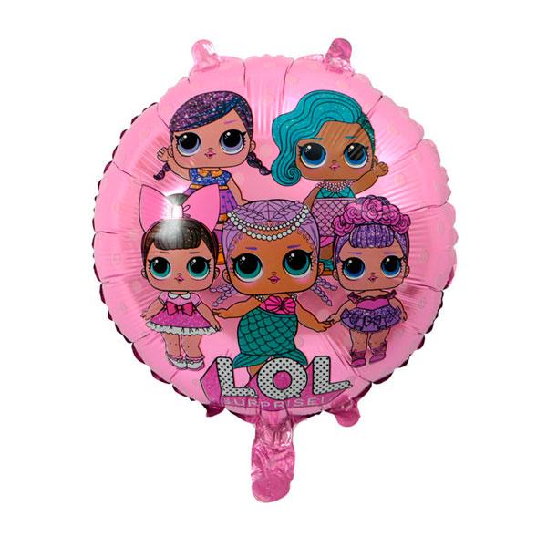 Шар 46 см Круг Куклы Лол LOL Розовый
