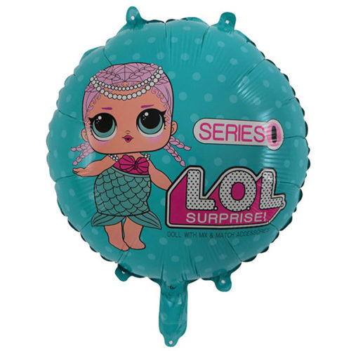 Шар 46 см Круг Куклы Лол LOL Русалочка