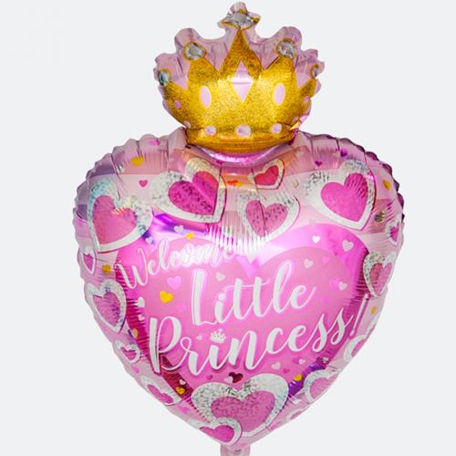Шар 48 см Фигура С Днем Рождения Маленькая Принцесса Розовый