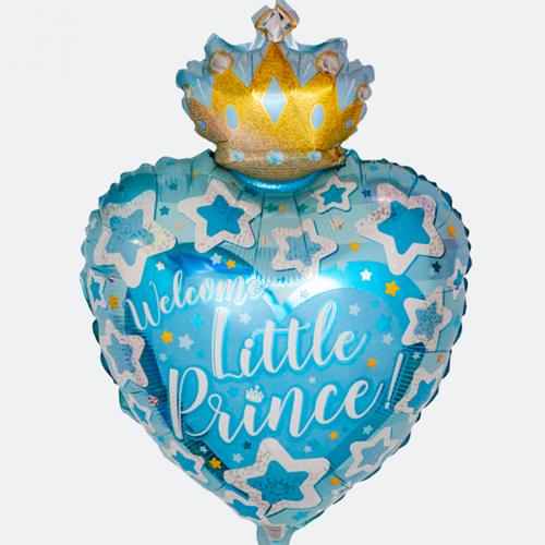 Шар 48 см Фигура С Днем Рождения Маленький Принц Голубой