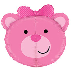 Шар 68 см Фигура Голова медвежонка девочки
