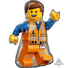 Шар 81 см Фигура Лего Человечек Эммет