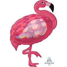 Шар 83 см Фигура Фламинго переливы перламутр