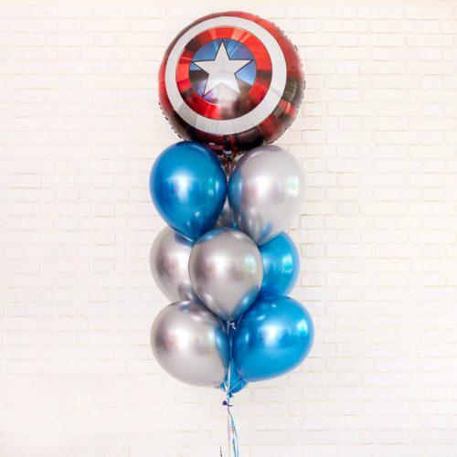Связка из шаров Хром и шар Капитан Америка