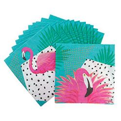 Салфетка 33 см Фламинго 12 штук