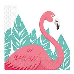 Салфетка 33 см Фламинго 20 штук