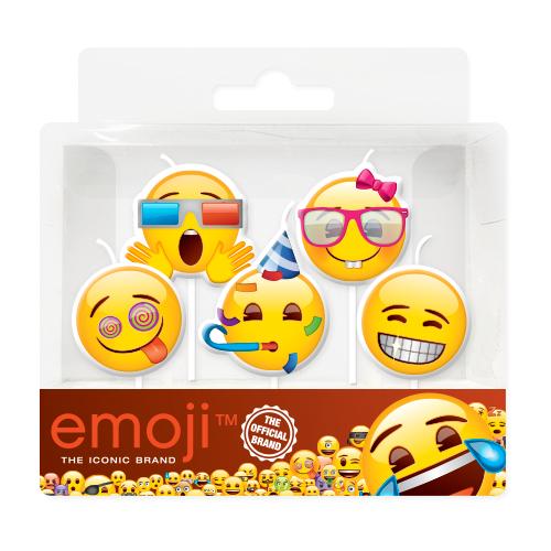 Свечи Смайл Emoji Вечеринка 7 см 5 штук