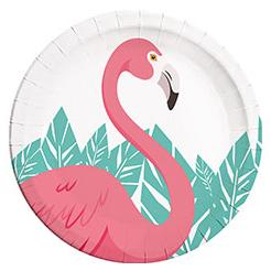 Тарелка 23 см Фламинго 8 штук