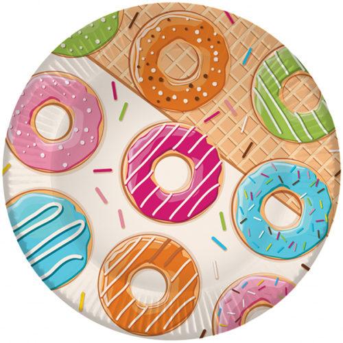 Тарелки 18 см Пончики 6 штук