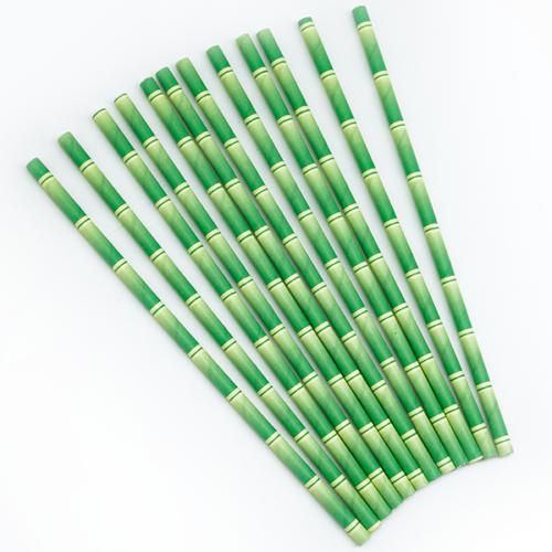 Трубочки для коктейлей Бамбук 12 штук