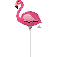 Шар 23 см Мини-фигура Фламинго