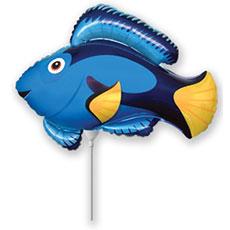 Шар 36 см Мини-фигура Рыба синяя