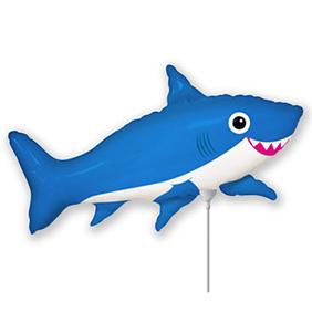 Шар 40 см Мини-фигура Акула веселая