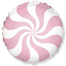 Шар 46 см Круг Конфета розовая пастель